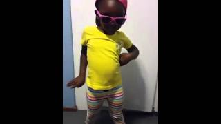 5 year old singing and dancing to Boss Zonke by Riky Rick