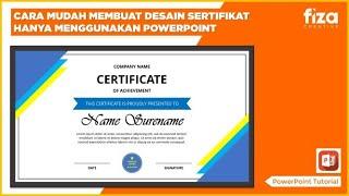 Cara Mudah Membuat Desain Sertifikat Menggunakan PowerPoint || PowerPoint Tutorial