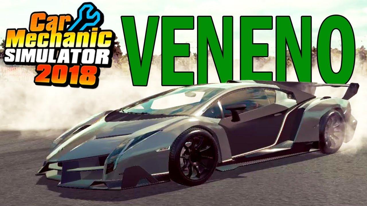 Lamborghini Veneno Rebuild (Mod) - 6X Time Lapse - Car Mechanic Simulator  2018