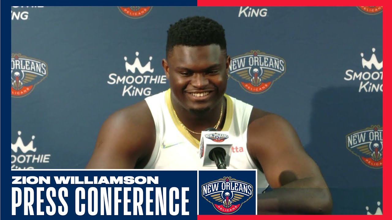 Download Zion Williamson Full Interview Pelicans #NBAMediaDay
