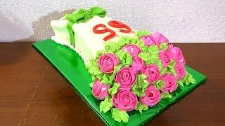 Торт букет роз МК Сборка и украшения торта Cake bouquet of roses MK