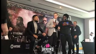youre a bch stiverne team joe joyce almost end in blows at final press conference