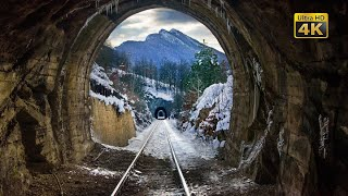 4K CABVIEW Požarevac - Zaječar -- Winter in the mountainous region of East Serbia