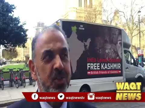 Kashmiries Who Lived in London Protest Agianst Indian Republican Day Tomorrow