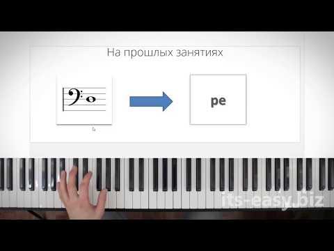 Как играть ноты в басовом ключе на пианино