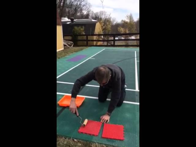 sport court tile restoration youtube