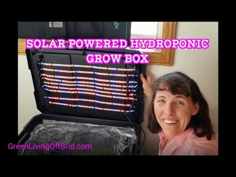 Solar Powered Hydroponic Grow Box - Easy Steps for Beginners