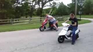 Nitrous fed 50cc Yamaha scooter vs 150cc Scooter thumbnail