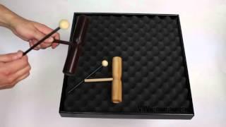 Tone Block Bubinga 2 Tons avec Poignée + Baguette - 3+ vidéo