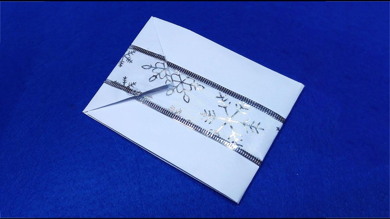 simple origami envelope christmas gift card diy envelope