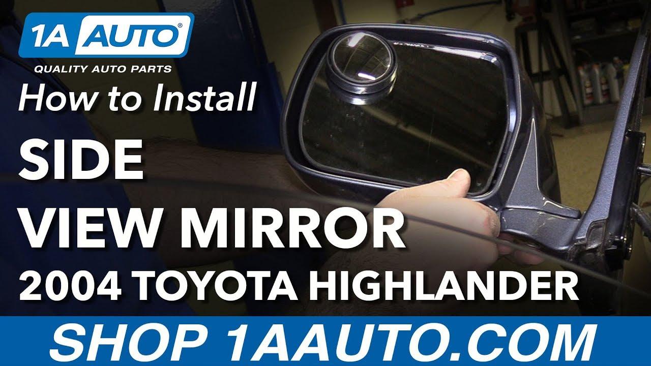 Side View Door Mirror Manual RH Right Hand Passenger for 03-04 Honda Element
