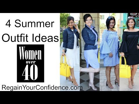 4 Summer Outfit Ideas - Dresses - For Women Over 40