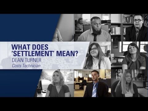 What does 'settlement' mean? - DAS Legal Expenses Insurance