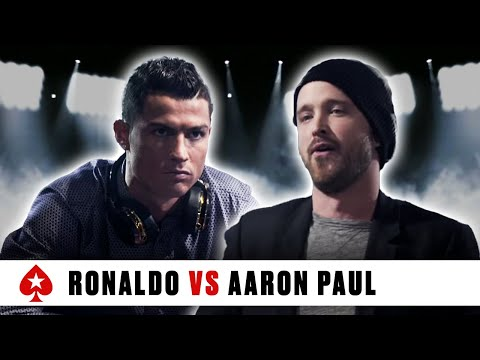 Cristiano Ronaldo VS Aaron Paul - ''I'm Here To Beat Him'' ♠️ PokerStars Duel ♠️ PokerStars Global