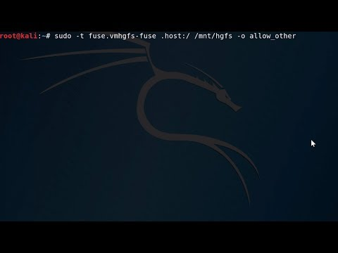 Configuring Shared Folders in VMWare Workstation with a Kali Linux Guest OS and Windows Host