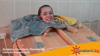 Санаторий Приморский - обзор процедуры сауна-мини Кедровая бочка, Санатории Беларуси