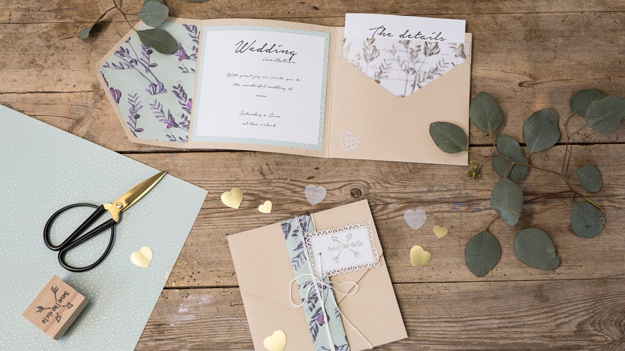 diy homemade wedding invitations by søstrene grene youtube