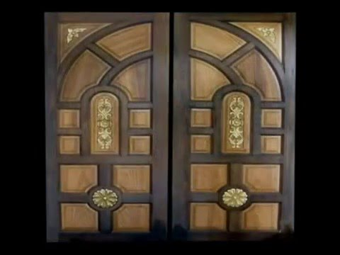 Wood Doors Custom Double Design Carved - YouTube