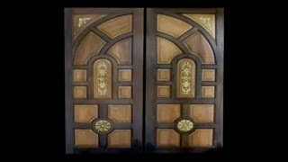 Wood Doors Custom Double Design Carved