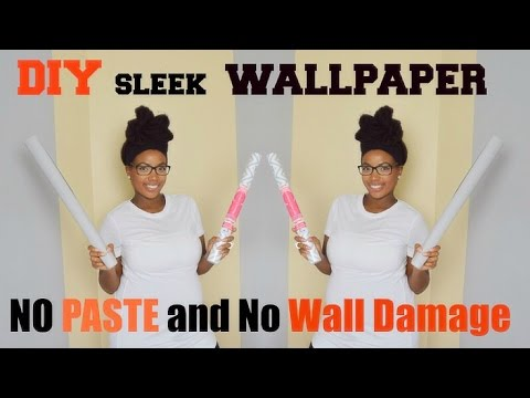 DIY Sleek Wallpaper No Paste No Damage - Renting