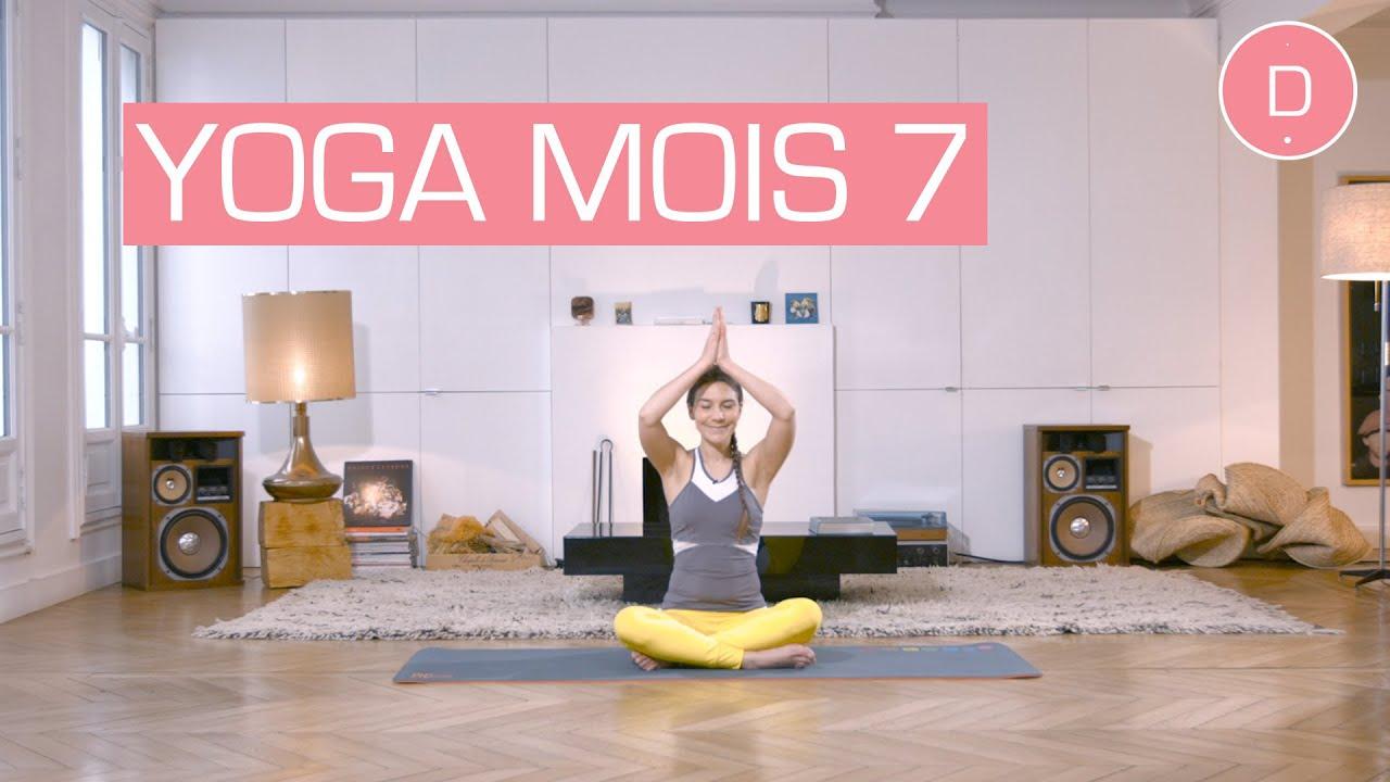 Populaire Yoga prénatal - 7ème mois de grossesse - YouTube WF77