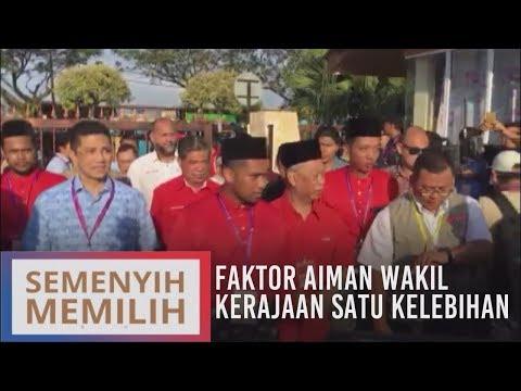 Faktor Aiman wakil kerajaan satu kelebihan untuk PRK Semenyih