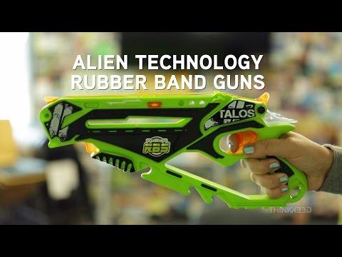 Alien Technology Rubber Band Guns from ThinkGeek