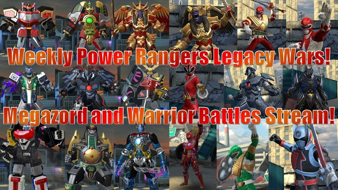 Pilot Megazords or Become Ranger! | Weekly Power Rangers Legacy Wars Megazord and Warrior Battles!