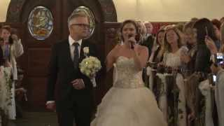 Her Father Walks Her Down The Aisle. But Keep Your Eyes On Her Left Hand… WHOA!