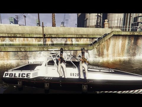 EEN POLITIE BOOT STELEN!! [GTA 5] - KillaJ