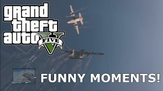 GTA V Online Funny Moments! Bouncy Cars, AC130's And More!