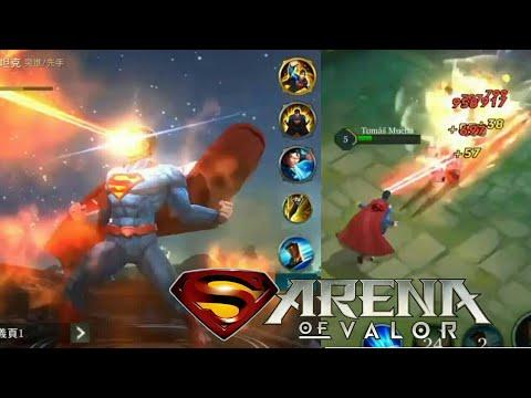 Arena Of Valor Superman Gameplay New Hero Superman Aov