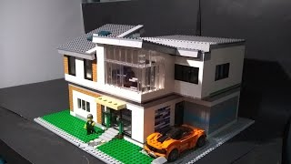 Huge Detailed Modern Lego House Moc