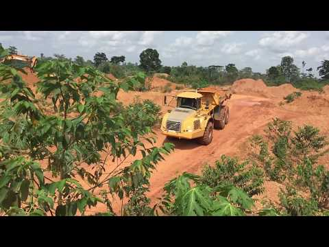 Gold Extraction, small scale mining Ghana. Central Region