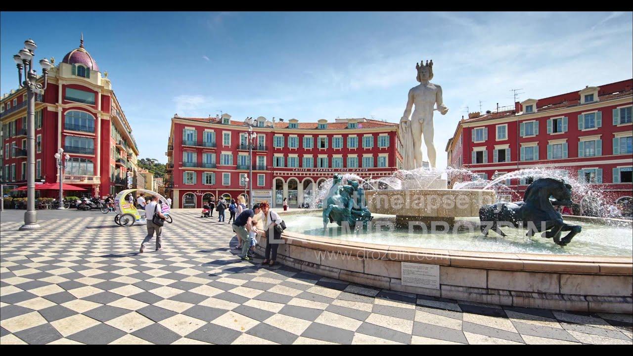 France nice place massena fountain soleil avenue jean medecin old town youtube - Place massena nice ...