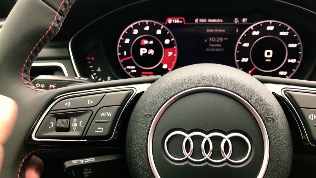 2018 Audi S4 Virtual Cockpit Classic Display To Sports