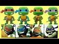 TMNT Teenage Mutant Ninja Turtles Funko Pop Full Set Videos for Kids
