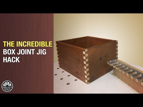 The Incredible Box Joint Jig Hack // Perfect Box Joints