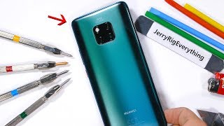 Mate 20 Pro Durability Test! - The Back is Different...