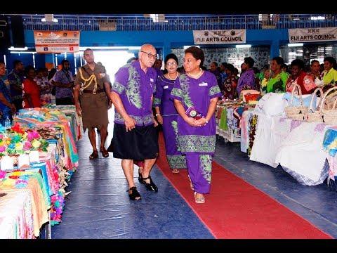 Fijian President officiates the opening of the Fiji National Women's Expo 2017