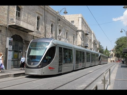 JERUSALEM TRAMS JUNE 2012
