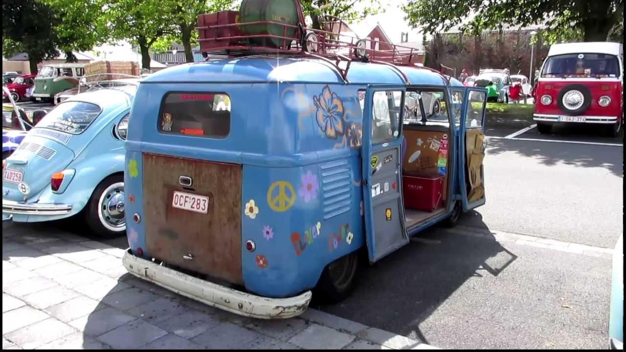 vw barndoor micro bus t1 blue pt1 @ aartrijke 2012 - YouTube