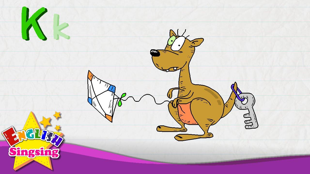k is for kangaroo key kite letter k alphabet song learning english for kids