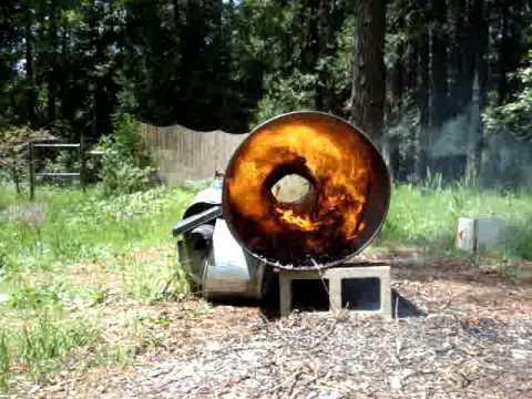 Wood Chip Burner Prototype 10kw Power System Mpg Youtube