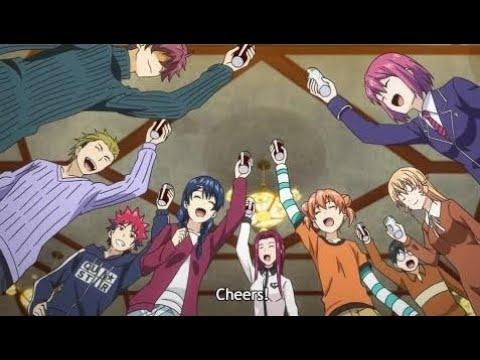 Celebration Party at Polar Star Dormitory after the Victory of Yukihira Soma!