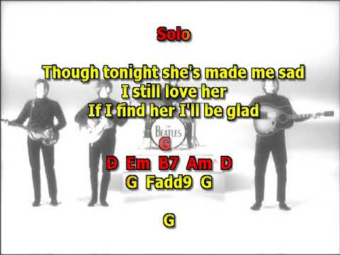 I Don't Want To Spoil The Party Beatles best karaoke instrumental lyrics chords