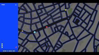 PacMan en Google Maps