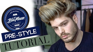 The Best Men's Hair Pre-Styling Products + Blumaan Original Smooth Demo