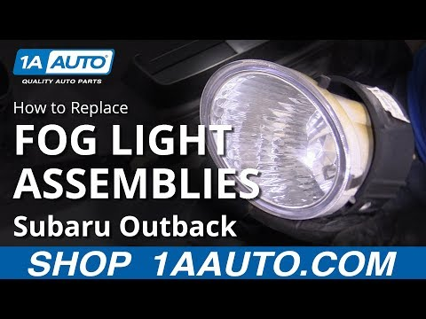 How to Replace Fog Light Assemblies 10-14 Subaru Outback