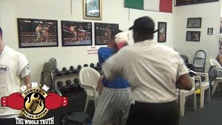 ROGER MAYWEATHER TRIES TO KNOCK THIS GUY OUT!!!!